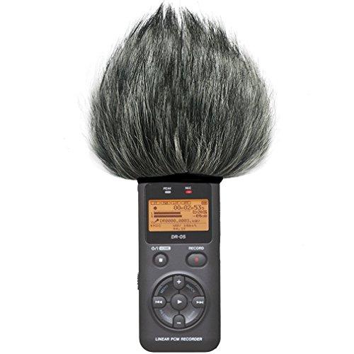 First2savvv TM-DR-05-C01 Bonnette anti-vent Furry à l'extérieur pour enregistreurs numériques portables pour Tascam DR-05 . DR05