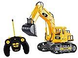 Top Race® 7-Kanal voll funktionsfähiger Bagger, elektrischer Bautraktor mit RC Fernbedienung