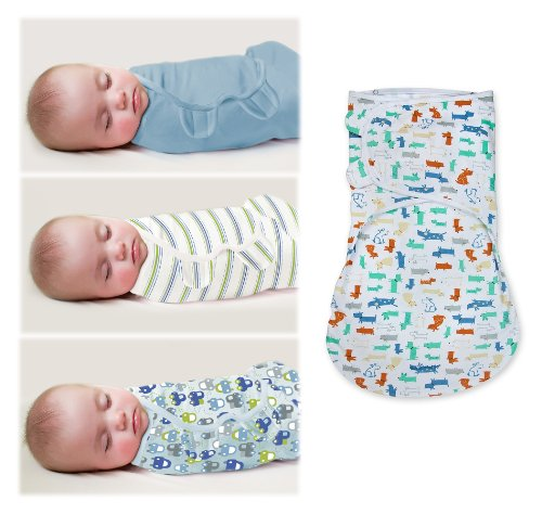 Summer Infant Original Swaddleme & Swaddleme Wrapsack Set, Large, Puppy/Car front-540370