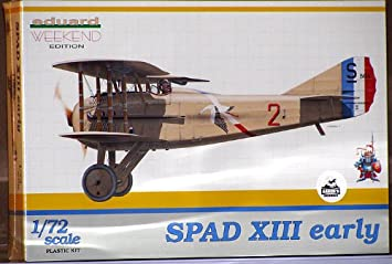 Eduard EDK7411 Spad XIII Early 1:72 Plastic Kit