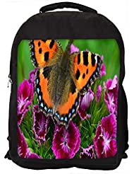 """Snoogg Relaxing Butterfly Casual Laptop Backpak Fits All 15 - 15.6"""" Inch Laptops"""