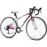 Giordano Women's Libero 1.6 Road Bike, Small, White/Pink