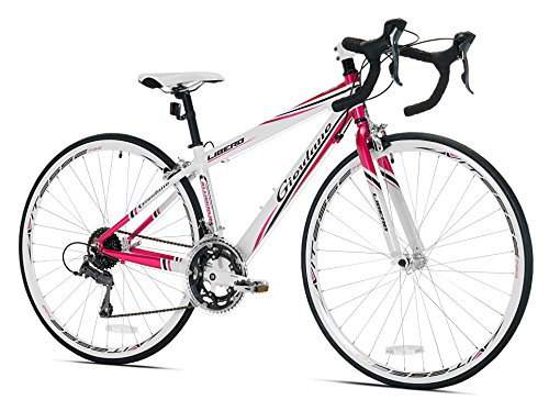 Lowest Price! Giordano Women's Libero 1.6 Road Bike, Medium, White/Pink