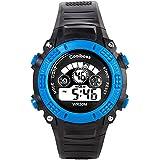 Coolboss Children Watch Outdoors Sports Kids Boys Girls LED Digital Alarm Stopwatch Waterproof Wristwatch Children... - B01MG8U01U