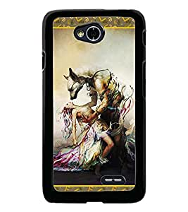 PrintDhaba Beauty and the Beast D-2526 Back Case Cover for LG L90 (Multi-Coloured)