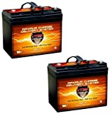 Bargain QTY2 VMAX857 AGM Deep Cycle Group U1 Battery Replacement for Everest & Jennings Metro Power Navigator Quest 12V 35Ah Battery