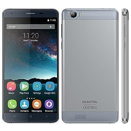 """OUKITEL K6000 4G Smartphone MTK6735P 2G + 16G Android 5,1 quadricœur 64 bits 5.5"""" HD IPS 13МP double caméras 6000mAh batterie alliage châssis coque arrière charge rapide adaptateur"""