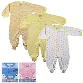 Snap Front Sleep N Play, 3-Pack