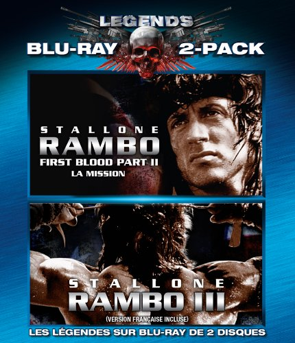 Legends of the Expendables: Rambo II: First Blood Part 2 / Rambo III (Sylvester Stallone Double Feature) (Bilingual) [Blu-ray]