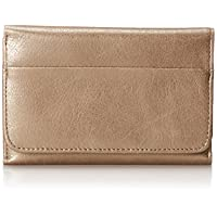 HOBO Jill Compact Leather Wallet,Cham…