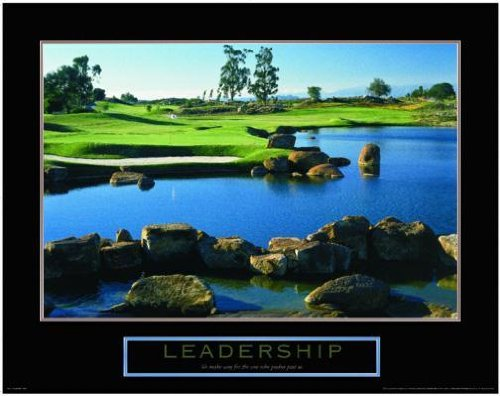 Leadership Golf Motivational Poster Inspirational Art Print