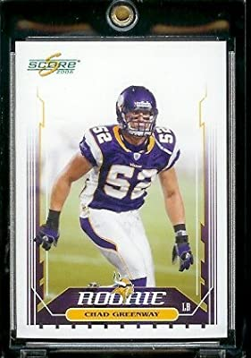 2006 Score Football Card # 332 Chad Greenway (RC) Rookie Card - Minnesota Vikings - NFL