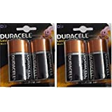 Duracell Alkaline Battery D2 Pack Of 2 (4 Cell)