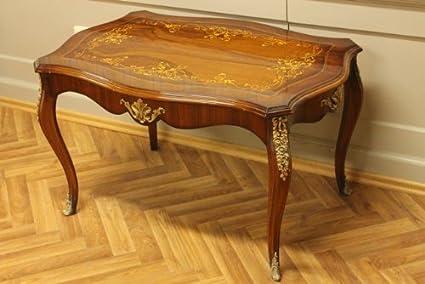 Tavolo tavolino da salotto barocco rococò antico stile mota1319a