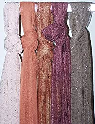 Apparelsonline wholesale Lot of 6 Net shawl Hijab Designer Wrap Long Neck scarf hijabs