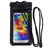 Universal waterproof sports protective Case Dry Bag Pouch for Samsung Galaxy S5 / S4 /Nokia Lumia 1020 / 925 / 928 630 635 / HTC ONE M8 / LG G2 / LG Nexus 5 / Moto G 4G 8GB 16GB Sim Free Smartphone(Black)