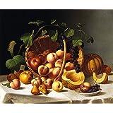 Tallenge Art For Kitchen - Basket Of Fruit - A3 Size Rolled Poster