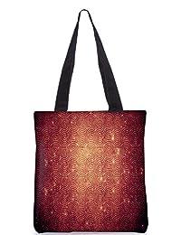 Snoogg Abstract Circles Patterns Digitally Printed Utility Tote Bag Handbag Made Of Poly Canvas