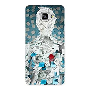 Enticing Office Paper Back Case Cover for Galaxy A5 2016
