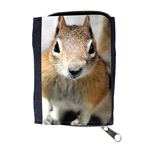 Cartera unisex // V00003145 Close up di un volto scoiattoli // Purse Wallet