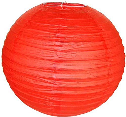 """Perfectmaze 12 Piece 8"""" (Inch) Round Chinese Paper Lantern For Wedding Party Engagement Decoration_Red"""