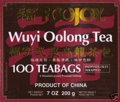 Foojoy Wuyi Oolong (Wu Long) Weight Loss Tea 100 Tea Bags