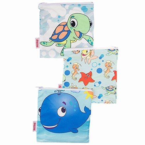 NUBY Reusable Snack Bag, Ocean Friends