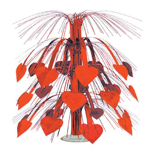 Beistle 70550-R Red Heart Cascade Centerpiece, 18-Inch, 1 Per Package