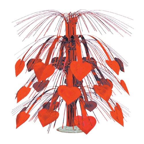 Beistle 70550-R Red Heart Cascade Centerpiece, 18-Inch, 1 Per Package