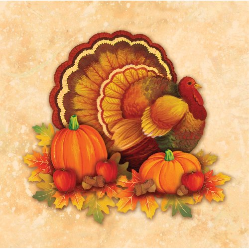 Thanksgiving Scroll Beverage Napkins (16 count) Party Accessory