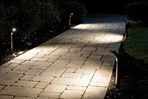 Outdoor wireless motion sensing led path lights with for In ground walkway lights