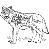 Mounted Rubber Stamp Deco Wolf