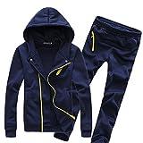 MNBS Mens Full Zip Jacket Sweatshirt Hoodie Jogging Bottom Running Suit