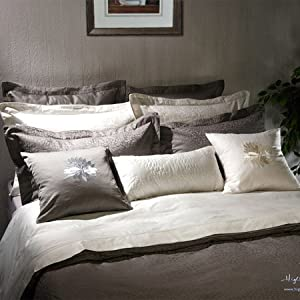 """Double/ Full Size Duvet Cover in Ivory Color Jacquard-""""Padova"""" Collection"""