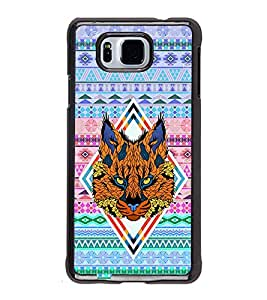 Fuson Premium 2D Back Case Cover Patterened Lion With Brown Background Degined For Samsung Galaxy Alpha G850