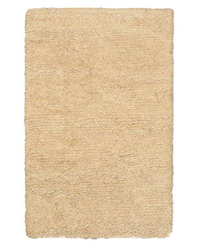 Hand-Knotted Nouveau Wool Shag, Khaki, 4' x 6'
