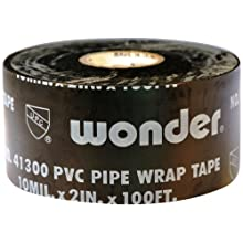 Intertape 826-BK 2P Wonder Printed PVC Pipe Wrap Tape 2-Inches x 100-Feet, 10-Mil