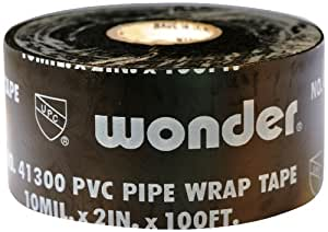 826-BK 2P Wonder Printed PVC Pipe Wrap Tape 2-Inches x 100-Feet, 10-Mil