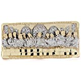 10k 2tone Gold Religious Last Supper 2 Finger Mens Ring