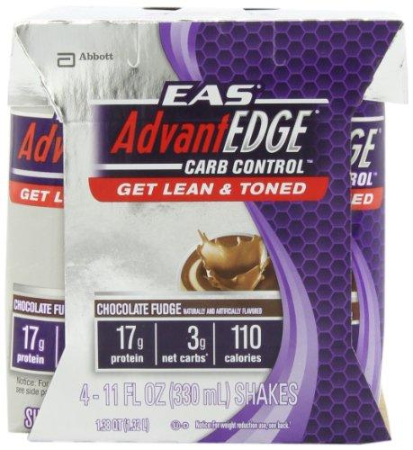 EAS AdvantEdge EAS AdvantEDGE Carb Control Chocolate Fudge Carton Ready To Drink, 11-Fluid Ounce, 4 Count