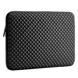 Laptop Sleeve, Evecase 17 - 17.3 inch Diamond Foam Splash & Shock Resistant Neoprene Universal Sleeve Case Bag for Chromebook Ultrabook Laptop Notebook Computer - Black