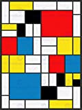 PIET MONDRIAN ABSTRACT CUBES SQUARES OLD MASTER ART PAINTING PRINT 12x16 inch 30x40cm 2573OM