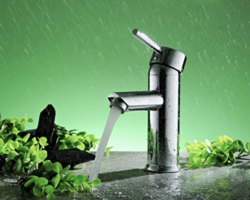 Best Deals! Greenspring Centerset Single Handle Bathroom Sink Vessel Faucet Stainless Steel Basin Mi...