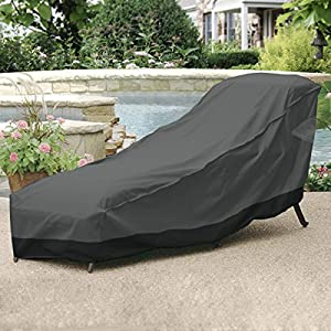 Neh outdoor patio chaise lounge chair cover for Chaise lounge covers outdoor