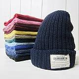 コロンビアニット ニットキャップ columbia knit [knit cap][cotton][14] (1.black)