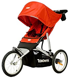 Joovy Zoom ATS Jogging Stroller, Red (Older Version) (Discontinued by Manufacturer) (Discontinued by Manufacturer)