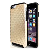 iPhone 6s / 6 Hybrid Case, ID-ON CIRQL Slim Dual-Layered [UNIQUE] Circle Patterns [SHOCKPROOF] PC TPU Simple Cool - Gold