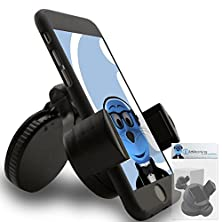 buy Italkonline Iholder Samsung A767 Propel Black Compact 360 Degrees Rotating In Car Case Compatible Wind Screen Dashboard Suction Mount Holder