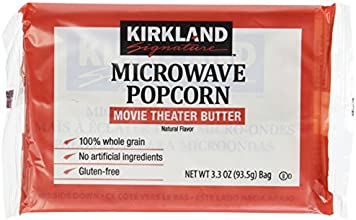 Kirkland Microwave Popcorn 33 Ounce Bags - 8 Bags