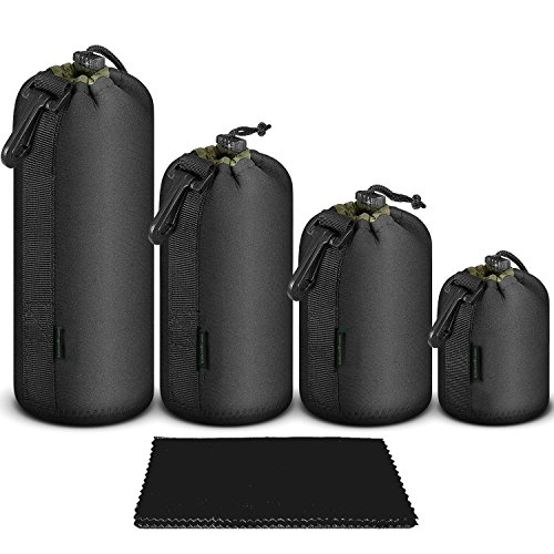 dslr-camera-lens-case-4-pack-thick-protective-neoprene-drawstring-pouch-for-canon-nikon-pentax-sony-